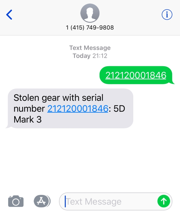 text-lenstag-for-stolen-serials